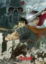 **Legit Poster** Berserk Guts vs Nosferatu Zodd Battle Key Art Wallscroll #60660