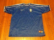 Men's VTG 90's Nike Brazil Brasil CBF Soccer Shirt Jersey sz XL
