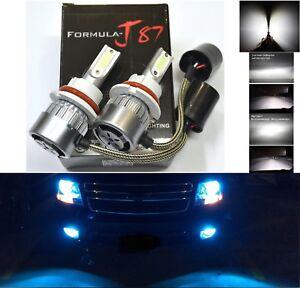 LED Kit C6 72W 9004 HB1 10000K Blue Two Bulbs Head Light Dual High Low Beam Lamp