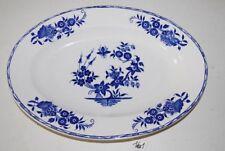 C161 Plat - Boch La Louvière - Décor Grand Bouquet - Blue 2