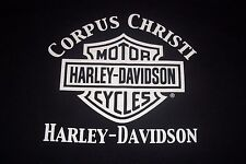 Harley Davidson Motor Cycles Corpus Christi T-Shirt Womens Youth Large