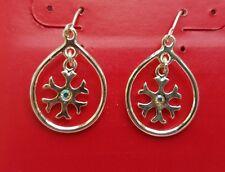 NEW! Silver Tone Christmas Winter SNOWFLAKE Rhinestone Pierced Dangle Earrings