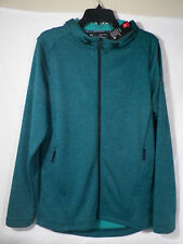 UNDER ARMOUR MEN'S TECH TERRY FULL ZIP HOODIE TEAL SZ S #1320193-NWT