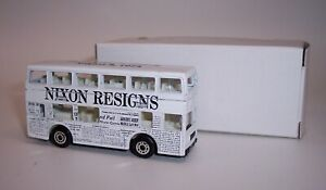 """MATCHBOX"" **NIXON RESIGNS** LONDON BUS PROMOTIONAL MINT BOXED"