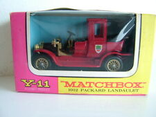 MATCHBOX MODELS OF YESTERYEAR Y11 - 1912 PACKARD LANDAULET