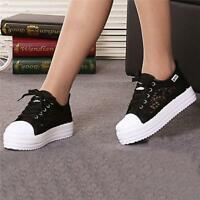 Women Casual Breathable Lace Sneakers Lace Up Trainer Walking Sports Shoes Size