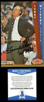 Lenny Wilkens signed autograph auto 4x6 photo with Beckett Authentication BAS