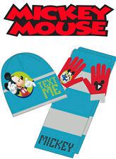 Officiel disney mickey mouse bébé garçon tricot set chapeau d'hiver écharpe et gants