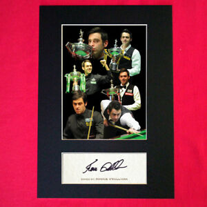 RONNIE O'SULLIVAN Signed Reproduction Autograph Mounted Photo Print A4 351