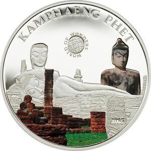 Palau 2016 Thailand Kamphaeng Buddha 5 Dollars Silver Coin,Proof
