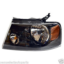 NEW 2004-2008 Ford F-150 Harley BLACK Housing LEFT Lamp Light - Driver's Side LH