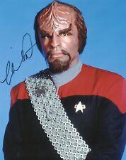 MICHAEL DORN Signed 10x8 Photo WORF In STAR TREK COA