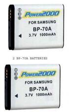 2 BP-70A EA-BP70A Batteries for Samsung MV800 ST66 ST68 ST75 ST76 ST77 ST78 ST79