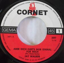 JAY WALKER ~ RARE GERMAN ROCK 45 on CORNET ~ HEAR IT