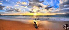 "LARGE STUNNING BEACH CANVAS ART PRINT SEASCAPE 44""x20"""