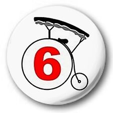 THE PRISONER LOGO - 1 inch / 25mm Button Badge - Number 6 Patrick McGoohan