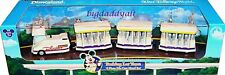 NEW Disney Parks Die Cast Parking Tram Model 4 Piece Set Monorail Magic Kingdom