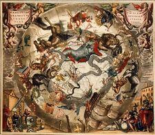 Henricus HONDIUS:HEMISPHAE ALIS COELI SPHAERI GRARII BORE ET TERRA CASCENO PHIA