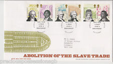 HULL GB ROYAL MAIL FDC FIRST DAY COVER 2007 SLAVE TRADE ABOLITION STAMP SET