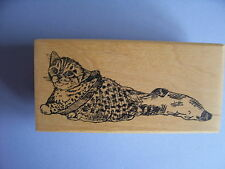 CREATIVE IMAGES RUBBER STAMPS CISTAMPS CAT IN STOCKING STAMP