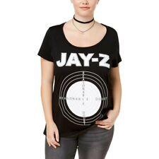 2X Merch Traffic Plus Size Cotton Jay-Z Graphic Black T-Shirt Top