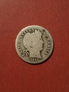 1912 Barber SILVER One Dime USA