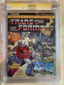 TRANSFORMERS UK #1 CGC 7.5 SS comic PETER CULLEN First Appearance with transfer