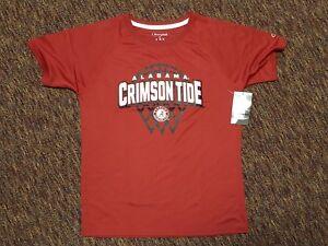 NCAA Alabama Crimson Tide Boys Basketball T-shirt Large 12/14 Red Bama  #1