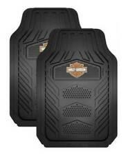 Harley-Davidson Weatherpro 2 Piece Rubber Floor Mats, Universal-Fit U-1671