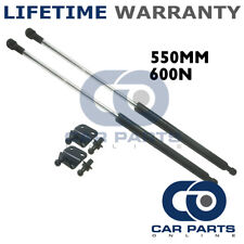 2X UNIVERSAL GAS STRUTS SPRINGS KIT CAR OR CONVERSION 550MM 55CM 600N & BRACKETS
