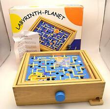 Space Ship Labyrinth Planet Maze Ball Puzzle Game Wood Balance Large 14x12