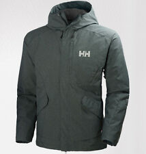 helly hansen mens toronto insulated waterproof jacket stormy green large $325