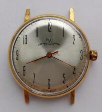 LUCH 2209 SU 23 JEWELS GOLD PLATED AU 20 SOVIET-RARE  USSR SERVICED