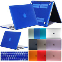 "Matte Hard Rubberized Case + Keyboard Cover For Apple Macbook Retina 12"" 13"" 15"""
