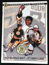New Boston Bruins Hockey Great Ray Bourque #77 Retirement Night Program Banner