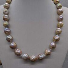 "Natural Rare lavender 15*17mm drip Kasumi Pearl Necklace 18"""