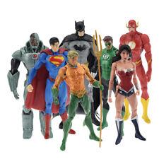 7Pcs DC Avengers Superman Batman Wonder Woman PVC Model Action Figure Toys