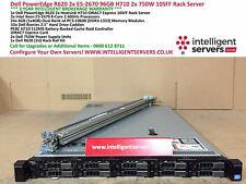 Dell PowerEdge R620 2x E5-2670 96GB H710/512 2x750W iDRAC7 Rack Server