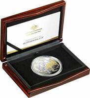 2020 $1 5oz Selectively Gold Plated Silver Proof Coin MOB OF ROOS