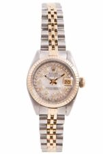 Rolex Ladies 18K/SS Datejust -Mother Of Pearl String Diamond Dial- Jubilee Band