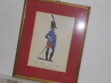 Vtg. Italian Military Museum 1822 Ufficiale Tenuta di Parata Framed Print
