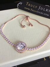 Luxurious Designer Rose Gold And Diamante Bracelet  - Gift Packaged