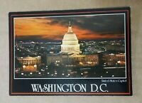 Printed Postcard - Washington D.C. - U.S. Capitol Night Sunset Aerial View