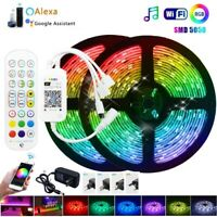 Smart WIFI 32FT Music Sync Color Changing Alexa LED Strip Lights Rooms Bar White