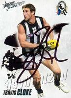 ✺Signed✺ 2010 COLLINGWOOD MAGPIES AFL Premiers Card TRAVIS CLOKE