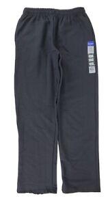 NWT Gildan Men's Fleece Open Bottom Sweatpants with Pockets Style G18300 Black