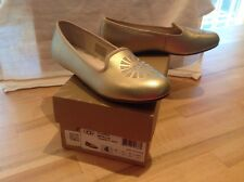 NIB Ugg Carey Metallic Gold Girls Slip On Shoes Size 4 EU 34 PERFECT $70