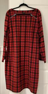Nwt Talbots 3X Long Sleeve Warm Tartan Plaid Pullover Dress