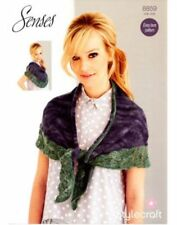 Stylecraft Knitting Pattern 8859 Senses Lace Weight Scarf Shawl EASY One Size