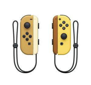 Joy Con Controllers Pikachu Eevee Pokemon Yellow Brown For the Nintendo Switch
